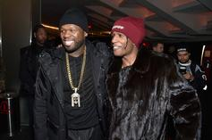 50 Cent & A$AP Rocky Show Off Their Beer Pong Skills At Juneteenth Kickback