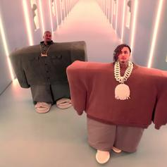 """Kanye West & Lil Pump Are Very Creepy In Their New Collab """"I Love It"""""""