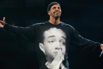 Drake Performs Live In Las Vegas Wearing Jaden Smith Shirt