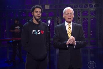 """J. Cole Performs """"Be Free"""" Live On David Letterman"""