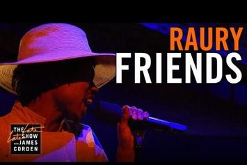 """Raury Performs """"Friends"""" On The Late Late Show"""
