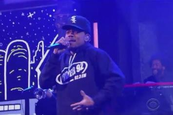 """Chance The Rapper & Saba Perform """"Angels"""" On Stephen Colbert"""