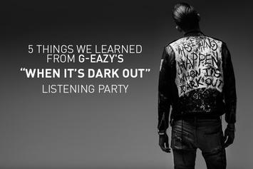"5 Things We Learned From G-Eazy's ""When It's Dark Out"" Listening Party"