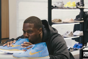 Kevin Hart Goes Sneaker Shopping, Reveals 3 Colorways Of His Nike Collab