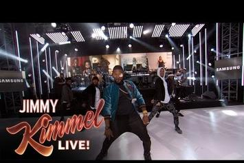 "Usher Performs ""No Limit"" With Fans From All Around The World On Kimmel"