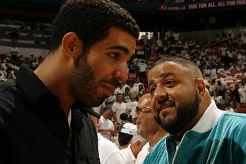 Drake Gives DJ Khaled Diamond Keys