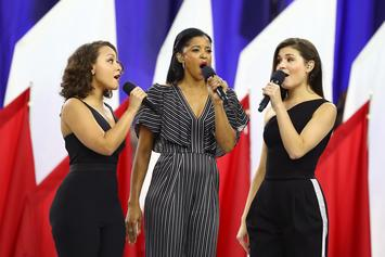 """The Schuyler Sisters Of """"Hamilton"""" Remixed """"America The Beautiful"""" At Superbowl LI"""