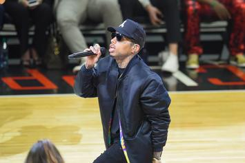 "Kid Ink Performs ""Swish"" Live At LA Clippers Game"