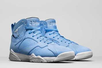 """""""University Blue"""" Air Jordan 7s Will Be Available In Men's And Women's Sizes"""