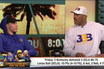 Lonzo Ball Joins His Dad LaVar On ESPN First Take