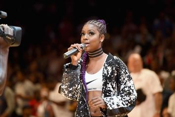 Justine Skye Takes A Knee While Singing National Anthem