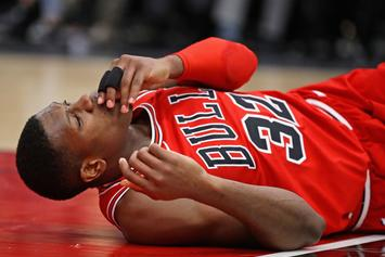 Bulls' Kris Dunn Dislocates His Teeth On Gruesome Post-Dunk Fall