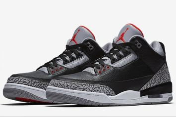 "Jordan Brand Unveils ""Black Cement"" Air Jordan 3 Official Images"