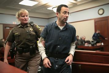 """Father Tries To Attack Larry Nassar: """"Give Me 1 Minute With That Bastard"""""""