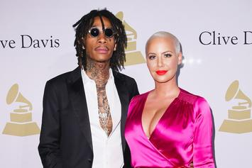 """Wiz Khalifa & Amber Rose Don """"Suicide Squad"""" Costumes For Son Bash's Birthday"""