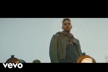 "Chris Brown ""Tempo"" Video Finds Him Riding a Floating Garbage Truck"