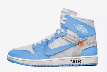 "Off-White x Air Jordan 1 ""Dark Powder Blue"" Rumored To Release"
