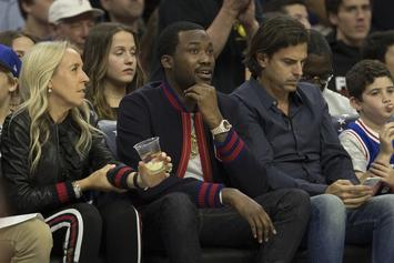 Meek Mill Rings Ceremonial Bell At 76ers Game To Massive Applause