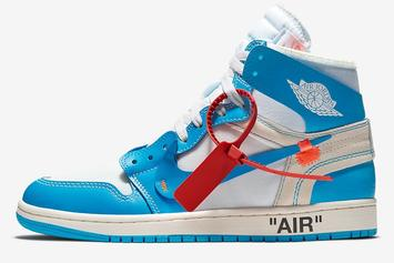 """Off-White x Air Jordan 1 """"UNC"""" Official Images & Release Info Revealed"""