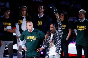Houston Rockets Owner & Travis Scott Honor Sante Fe Students Before Game 5