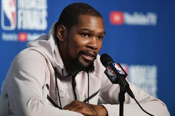 Kendrick Perkins Flips Off Kevin Durant During Press Conference
