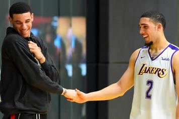 """Lonzo Ball & LiAngelo Ball Rep Big Baller Brand In """"We Do It For The Fans"""""""