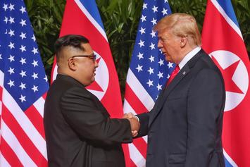Donald Trump Meets & Shakes Hands With Kim Jong Un Ahead Of Summit Meeting