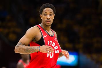 "DeMar DeRozan Coldly Rejects Lakers' Fan Who Tries To Recruit Him: ""Hell No"""