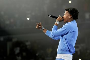 Lil Baby Begins Jimmy Kimmel Performance From His Emerald Green Mercedes