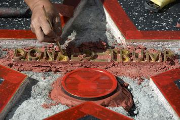 Fight Breaks Out At Donald Trump's Destroyed Walk Of Fame Star