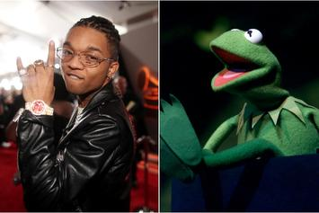 Swae Lee Sparks Up And Dances With Eerily Fluid Kermit The Frog