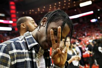 Travis Scott Gets Large New Head Tattoo