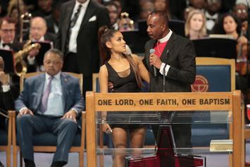 Ariana Grande Touched Inappropriately By Pastor At Aretha's Franklin's Funeral