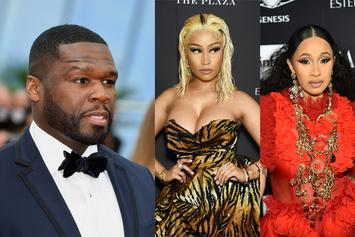 """50 Cent Comments On Cardi B Fighting Nicki Minaj: """"She Been Through Way Worse"""""""