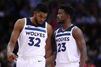 Karl-Anthony Towns Won't Sign Extension Until Jimmy Butler Issue Is Resolved