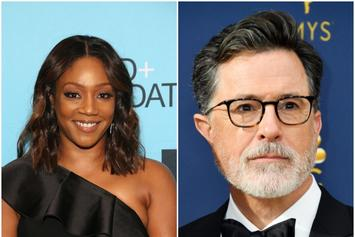 "Tiffany Haddish And Stephen Colbert Discuss ""Beard Gang"" Etiquette"