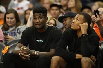 """Joel Embiid On DeAndre Ayton: """"He's Going To Get His Ass Kicked This Year"""""""