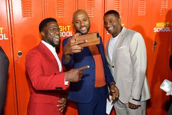 "Kevin Hart Celebrates ""Night School"" Box Office Win With ""FEFE"" Remix Dance"