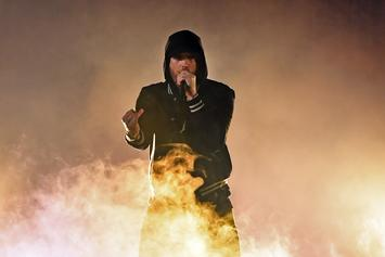 """Eminem Performs """"Venom"""" From Top Of Empire State Building On Jimmy Kimmel"""