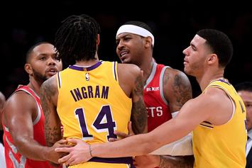 "Carmelo Anthony ""Accidental Spit"" Theory Emerges In The Aftermath Of Lakers Brawl"