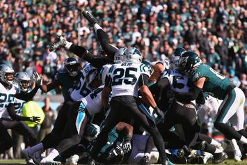Panthers' Eric Reid & Eagles' Malcolm Jenkins Get Into Pre-Game Scrap