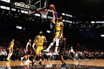 Nets' Jarrett Allen Only 8th Player Ever To Block A LeBron Dunk