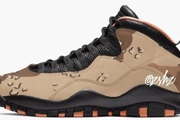 "Air Jordan 10 ""Desert"" And ""Woodland"" Camo Colorways Coming Mid-2019"