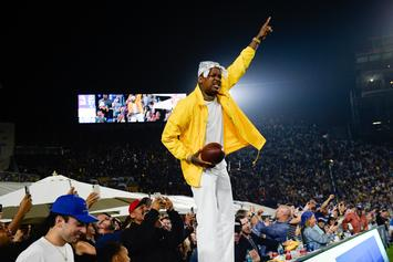 YG Celebrates The Los Angeles Rams Big Win Over The Saints