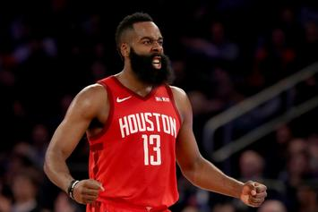 James Harden Notches 21st Straight 30-Point Game