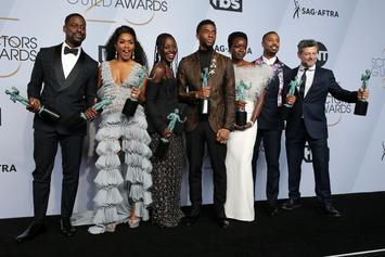 "Chadwick Boseman Delivers Electrifying Speech As ""Black Panther"" Wins At SAG Awards"