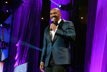 "Steve Harvey Sends Well Wishes To Jussie Smollett After Brutal Attack: ""We Down With You"""