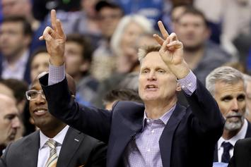 """Steve Kerr Of The Warriors Says It """"Gets Old"""" Watching Patriots Win Every Year"""