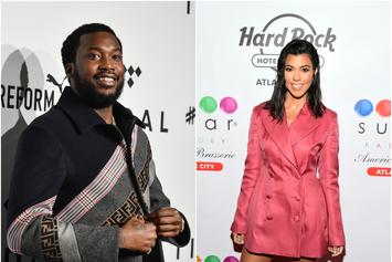 """Meek Mill Jumps In Kourtney Kardashian's Comments: """"Ass Phat In The Second Pic"""""""