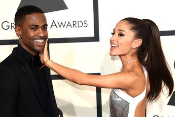 Big Sean & Ariana Grande Get Close At A Los Angeles Studio
